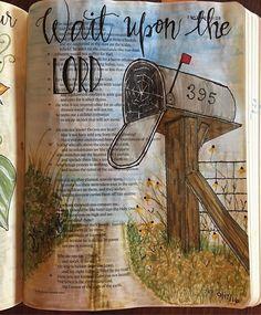 Isaiah 40:31... I want to be good at this (waiting)... I really do... #biblejournaling #illustratedfaith #mailbox #ranchlife