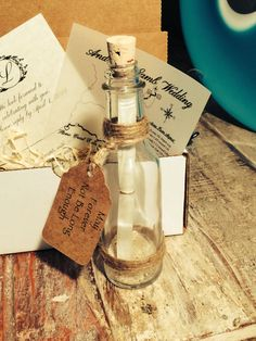 50 Message in a Bottle Invitations Box and RSVP by SoPreshSoChic