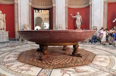 Grand porphyry bathtub of Emperor Nero AD), from his Domus Aurea palace in Rome. The Vatican Museums (Musei Vaticani). Ancient Rome, Ancient Greek, Ancient History, Stone Bath, Roman Sculpture, Sistine Chapel, Roman History, Rome Travel, Vatican City