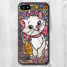 Disney The Aristocats Marie Cat Stain Glass Design Protective Phone Case Cover for iPhone 6 5s 5c 5 4s 4