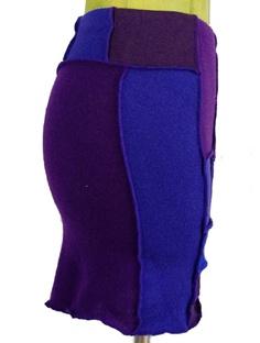Foat Design Purple Sweater Skirt