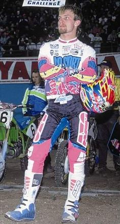 Great Races: The 1992 Las Vegas Supercross - Racer X Online Motocross Kit, Yamaha Motocross, Motorcycle Racers, Bmx Bikes, Cool Bikes, Dirt Bikes, Motorcycles, Dirt Bike Racing, Beast From The East