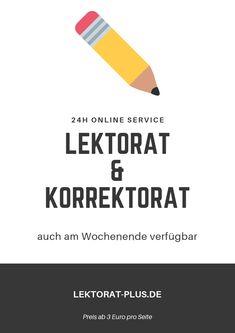 Lektorat und Korrekturlesen, 24h online verfügbar, auch am Wochenende
