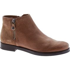 Taupe Half Suede Zip Ankle Boots