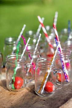 Toast to the perfect Summer party with these quirky mugs and stripy straws. Back Gardens, Straws, Outdoor Entertaining, Some Fun, Garden Inspiration, Outdoor Living, Toast, Mugs, Party
