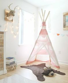pokój dziecięcy w leśnym stylu #namiot #tipi #las