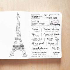 Paris #bujo #bulletjournal #handwritten #nuuna #bujonewbie #showmeyourplanner #art #bulletjournaling #instagood #journal #bujospread #bujoinspo #planwithme #pigmamicron #travel