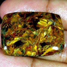 46.25Cts Natural Golden Pietersite Cushion Cabochon ~Gorgeous Quality~ Gemstones #Handmade
