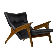 Adrian Pearsall; Walnut Lounge Chair for Craft Associates, 1950s.