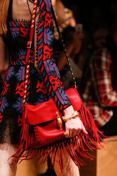 Dang, has Valentino been reading my mind?  Like this red leather fringe bag, the moment I saw it, I loved it!  Valentino Spring/Summer 2014