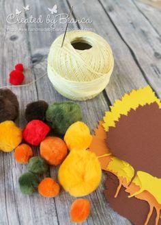 Herbstliche Tischdekoration mit Filz und Laterne von folia - komplette Anleitung unter http://forum.folia.de/basteln-fuer-besondere-anlaesse/2839-herbstliche-tischdekoration-leicht-gemacht