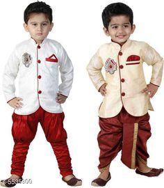 Sherwanis Kid's Boy's Sherwani's Fabric : Art Silk  Sleeves: Long Sleeves  Pattern: Solid  Multipack: 2 Sizes:  4-5 Years (Chest Size: 27 in)  5-6 Years (Chest Size: 28 in)  1-2 Years (Chest Size: 23 in)  3-4 Years (Chest Size: 25 in)  6-7 Years (Chest Size: 29 in)  2-3 Years (Chest Size: 24 in) 7-8 Years (Chest Size: 30 in) Country of Origin: India Sizes Available: 2-3 Years, 3-4 Years, 4-5 Years, 5-6 Years, 6-7 Years, 7-8 Years, 1-2 Years   Catalog Rating: ★4 (10189)  Catalog Name: Princess Elegant Kids Boys Sherwanis CatalogID_827120 C58-SC1172 Code: 434-5535300-4011