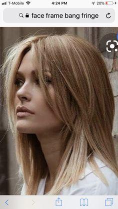 Long Fringe Hairstyles, Hairstyles With Bangs, Pretty Hairstyles, Face Framing Hair, Face Framing Layers, Medium Hair Styles, Curly Hair Styles, Long Hair With Bangs, Medium Length Hair With Layers And Side Bangs