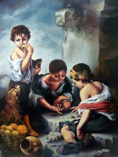 Young Boys Playing Dice By Bartolome Esteban Murillo Art Reproduction from Cutler Miles. Choose from Canvas Art, Framed, or Unframed Wall Art. Photo Printing, Fine Art, Poster Prints, Canvas Prints, Oil On Canvas, Imagery, Photographing Boys, Artwork, Fine Art Prints