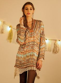 Sonoma Long Sleeve Tunic #BohoChic #JohnnyWas at Two Old Hippies. www.twooldhippies.com 615-254-7999