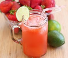 Strawberry Limeade (Two Peas and Their Pod) #strawberry #lime #drink