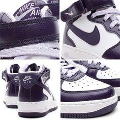 nike air force 1 mid gs purple snake 01 570x570 Nike Air Force 1 Mid GS   White   Purple Snake
