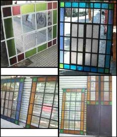 puertas y ventanas antiguas de hierro reciclados-grupodan Although early throughout concept, your pergola may be Modern Stained Glass, Casa Patio, Pergola Designs, Tree Wall, Exterior, Windows And Doors, Colored Glass, Animal Shelter, Decoration
