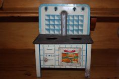 Vintage tin toy kitchen stove