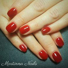 #nails #red #square
