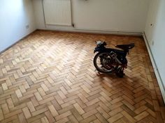 A room finished, with a Brompton for scale...