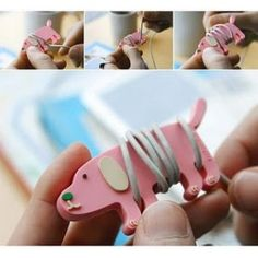 The Animal Earphone Organizer is one of many adorable and functional products in the MochiThings collection. Ear Buddies, Earphones Wrap, Arts And Crafts, Paper Crafts, Clay Crafts, Ideas Para Organizar, Pin And Patches, Cool Phone Cases, Diy Clay