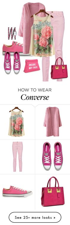 """""""pink"""" by sally-a-chapman on Polyvore featuring Converse, Current/Elliott, Dasein and Chanel"""
