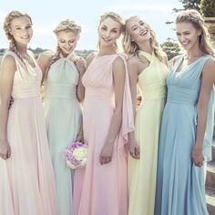 Actual Image Convertible Infinity Bridesmaid Dress Long Sweetheart Purple…