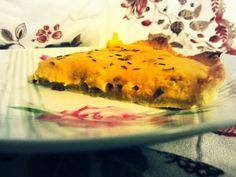 Pumpkin quiche with curry