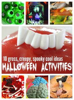 10 Spooky Halloween Activities for Kids. Spooky science experiments make cool Halloween activities for kids to learn and play with a Halloween theme. Hands-on learning for Halloween.