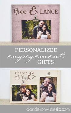 Personalized with your names (and date, if chosen) this adorable photo frame is one of a kind - just like you as a couple! Frame makes an adorable display for a wedding decoration or a sweet gift for a wedding, bridal shower, Valentine's Day, engagement, anniversary or just because! Personalized Engagement Gifts, Personalized Photo Frames, Special Wedding Gifts, Bridal Gifts, Family Christmas Gifts, Gifts For Family, Anniversary Gifts For Husband, Anniversary Ideas, Best Valentine Gift