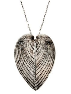 silver cardissium heart necklace---by: lauren wolf jewelry