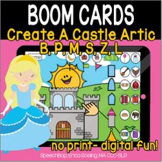 Boom Cards - Speechbop Rainbow Sprinkles, Speech Therapy, Distance, Initials, Castle, Essentials, Positivity, Author, Student