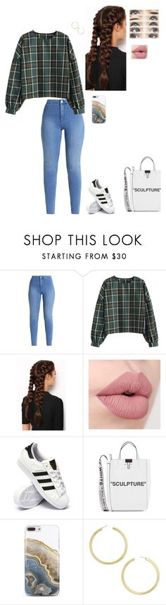 """""""Untitled #964"""" by faithanjel ❤ liked on Polyvore featuring LullaBellz, Brinley Co, adidas, Off-White, Nanette Lepore and BaubleBar"""