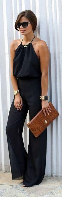 outfit con jumpsuit o palazos elegantes