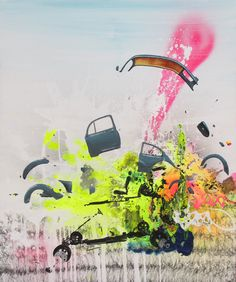 """2 secounds after"""" 120x90cm painting by Frederik Hesseldahl _The Art of Clean.dk 2014"""
