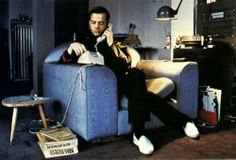 Ralf Hutter of Kraftwerk dials the phone in spiffy white shoes