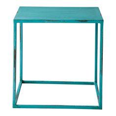 Table basse indus bleue