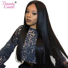 Human Hair Lace Wigs Hair Extensions & Wigs New Fashion 13x4 Lace Front Wig 300% Density Straight Lace Front Human Hair Wigs Remy Brazilian Frontal Wig Pre Plucked For Black Women Ture 100% Guarantee