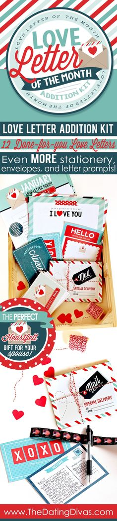 This would be such a cute gift for Christmas for your spouse! A whole year of easy love letters! SO MUCH cute stationery! www.TheDatingDivas.com