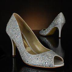 Sparkle sparkle in an easy heel height! New Oslo shoe by Benjamin Adams, MyGlassSlipper.com.