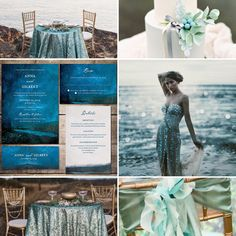 Night Sky Wedding Theme, Mountain Lake Wedding, Teal Wedding Theme Moodboard Inspiration #wedding #weddinginspiration #weddinginvitations