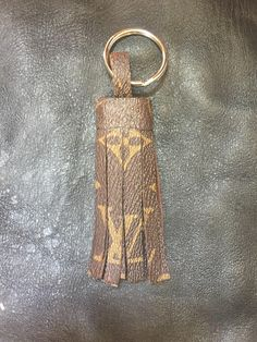 a08c5aced17 Louis Vuitton Tassle LV monogram repurposed keychain keyring