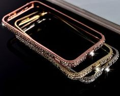 Cheap cover for iphone, Buy Quality case cover directly from China cover for iphone 6 Suppliers: Luxury Tri Row Bling Diamond Metal Frame Bumper Case Cover For iPhone 6 7 Plus Iphone 8 Plus, Iphone 6, Iphone Cases, Cheap Phone Cases, Apple Watch, Bling, Engagement Rings, Crystals, Luxury