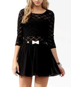 Diamond Patterned Lace Top ( love outfit)