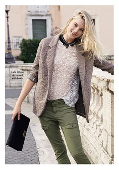 Spring 15 - Woman Collection: Military chic. Find it out on: http://www.benetton.com/blog/2015/02/05/military-chic/