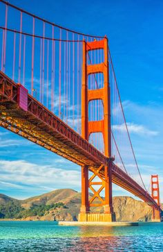 GOLDEN GATE BRIDGE Seeing it in a postcard will never be good enough. You have to take a stroll down the San Francisco bridge for yourself.