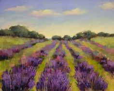 Reminds me of Sequim, WA where lavender and ocean coexist,  Artists in Pastel: May 2011