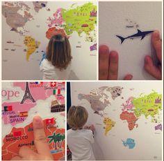 Ideal per ensenyar als nens: mapamundi craft paret!