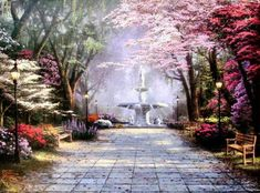Savannah Romance - Thomas Kinkade